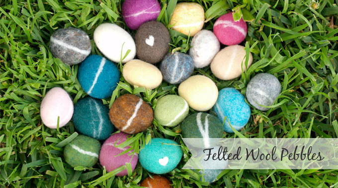 Felted Wool Pebbles