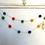 Rainbow Felted Garland