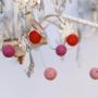 Red, Pink and Fuchsia Felted Garland