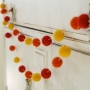 Autumn Felted Garland - Red, Orange and Yellow