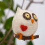 Needle Felted Christmas Ornament : Owl : www.theMagicOnions.com/shop/