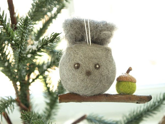 Needle Felted Squirrel Ornament — The Magic Onions Store