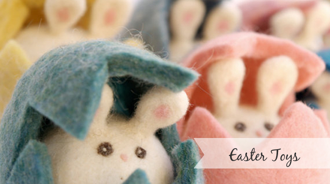 Needle Felted Easter Bunnies : www.theMagicOnions.com/shop/