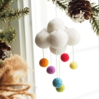 rainbow cloud ornament : www.theMagicOnions.com/shop/