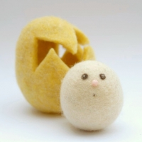 yellow felted eggs: www.theMagicOnions.com/shop/