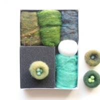 photo of needle felting nest kit by The Magic Onions