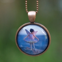Beach Fairy Necklace Wearable Art by The Magic Onions photo