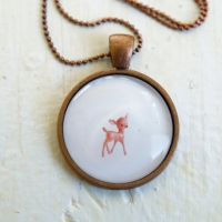 Deer Necklace Wearable Art Jewelry by The Magic Onions photo