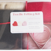 photo of Needle Felting Kit Heart DIY by The Magic Onions