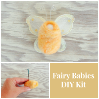 Make delightful FAIRY BABIES with this easy DIY NEEDLE FELTING kit from The Magic Onions Shop