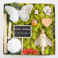 The sweetest Flower Fairy Kit in a box for your DIY Fairy Garden from The Magic Onions Shop