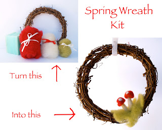 Tutorial :: Needle Felted Spring Wreath