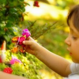 Magical fairy garden from The Magic Onions Blog :: Kid Friendly