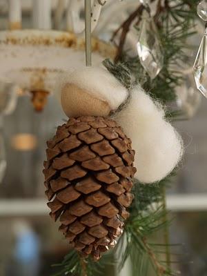 handmade Waldorf Christmas ornaments