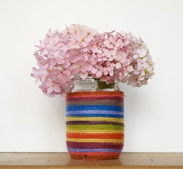 Make a Rainbow Mason Jar Flower Vase