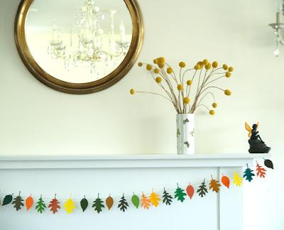 Make A Colorful Autumn Leaf Garland
