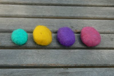 fabulous wet felted stones @ The Magic Onions
