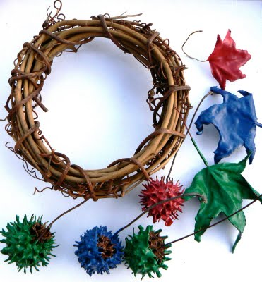Make a Bright Christmas Wreath.
