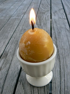 Lovely Waldorf beeswax egg candles for Easter craft