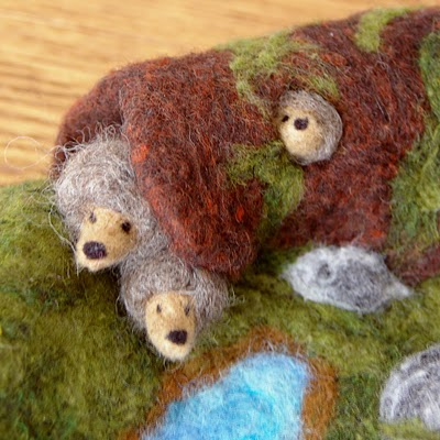 felted hedgehog waldorf inspired playscape for imaginative play
