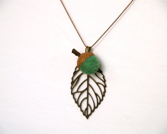 The ball chain and leaves have a wonderfully rich and earthy antiqued ...