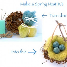 Tutorial :: Needle Felted Robin's Nest