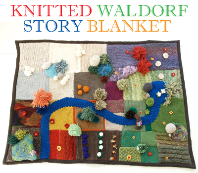 Waldorf Knitted Story Blanket Playscape