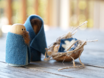 Handmade Felt Nativity Set : www.theMagicOnions.com