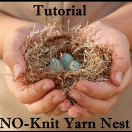 Make a Fluffy Yarn Easter Nest : Tutorial