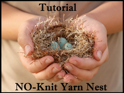 No Knit Yarn Nest Tutorial : Spring Crafting on The Magic Onions : www.theMagicOnions.com
