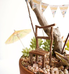 Make a Stick Chair for your Fairy Garden :: Fairy Gardens 2013