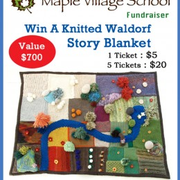 Waldorf Knitted Story Blanket and a Felted Village