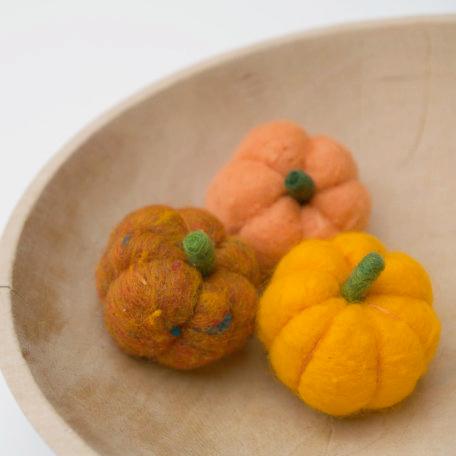 Neelde Felted Pumpkin Tutorial : The Magic Onions : www.theMagicOnions.com