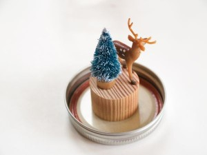 Make a Winter Wonderland Snow Globe : www.theMagicOnions.com