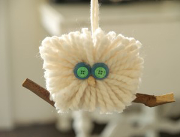 Fluffy Wool Owl Ornament : Handmade Christmas : www.theMagicOnions.com