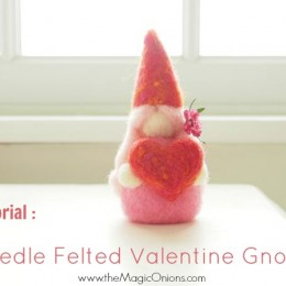 Needle Felting Tutorial : Valentine's Day Gnome : DIY