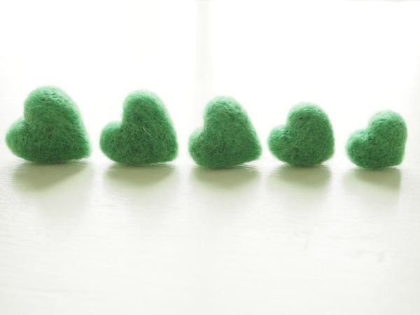 Needle Felted Tutorial : Needle Felted Hearts : www.theMagicOnions.com