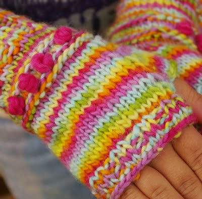Tutorial for Warm Knitted Fingerless Gloves