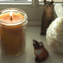 Making Beeswax Candles from Recycled Jars