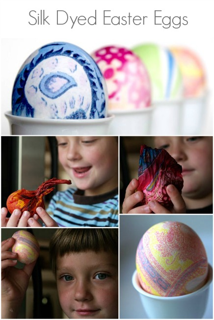 Spring Magic Craft Box : Silk Dyed Easter Eggs : www.theMagicOnions.com