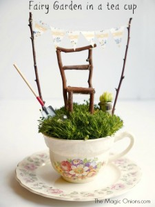 Fairy Garden in a tea cup : www.theMagicOnions.com