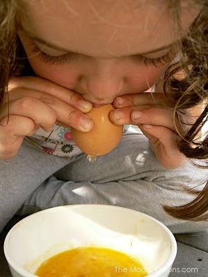 How To Blow Egg Shells For Crafts : www.theMagicOnions.com