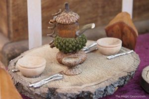Fairy acorn tea cup and tea pot from The Magic Onions Blog