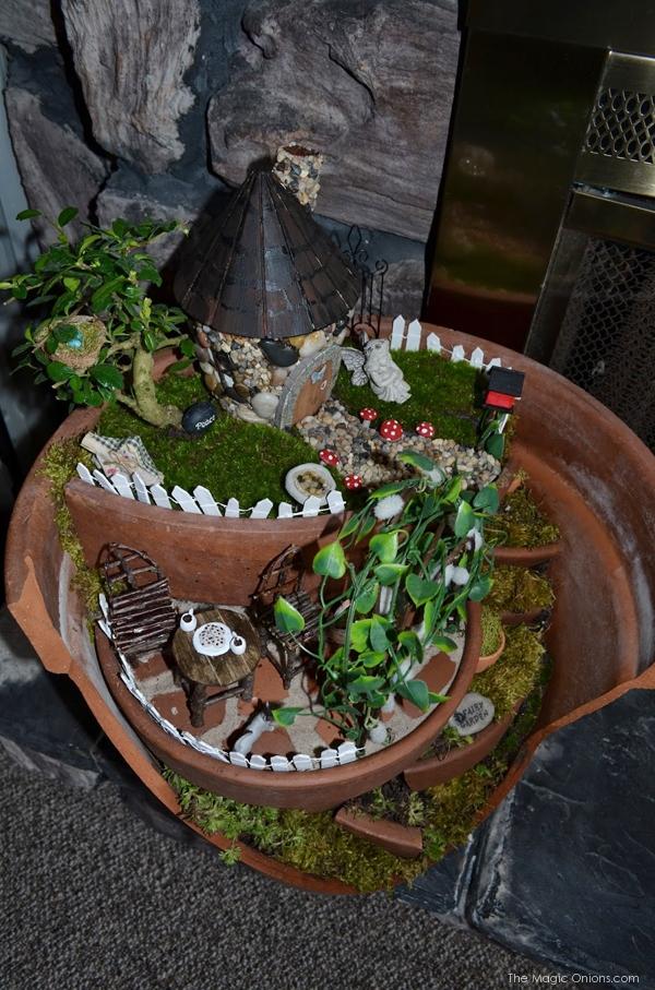 Layered Flower Pots Broken Flower Pot Fairy