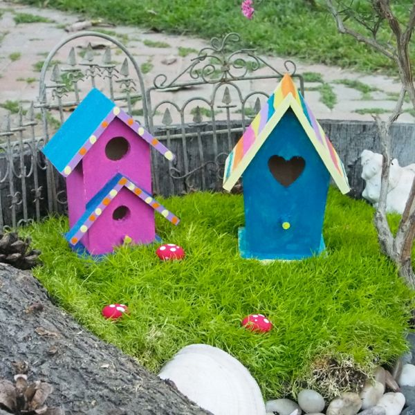 Painted Fairy House for the Fairy Garden : The Magic Onions : www.theMagicOnions.com