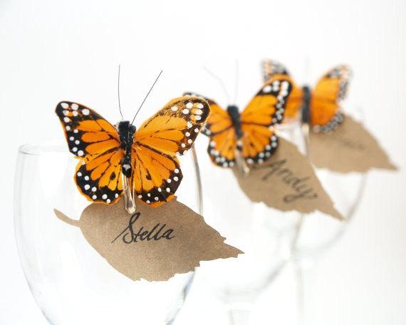 Butterfly Wedding Escort Cards : Fairyfolk Weddings : www.fairyfolkweddings.etsy.com