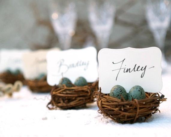Robins Nest Escort Cards : Fairyfolk Weddings : www.fairyfolkweddings.etsy.com