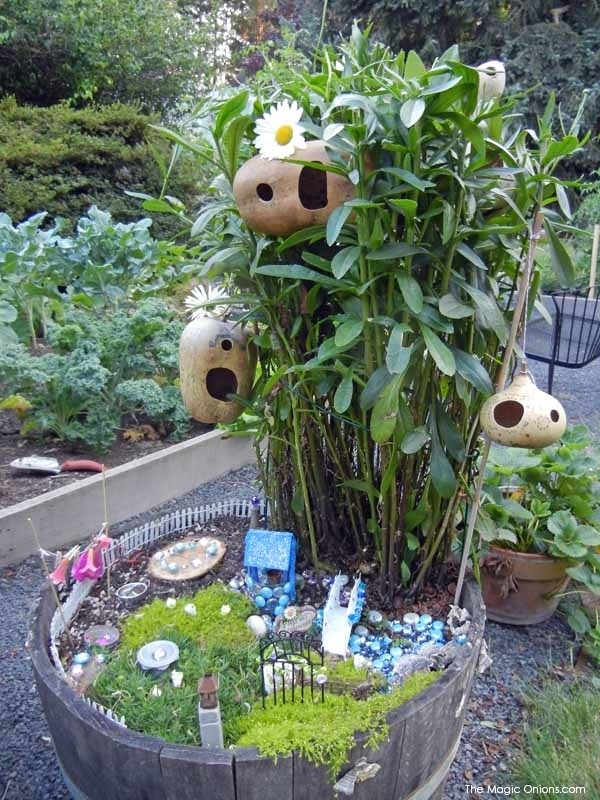 Gourd Fairy Houses : Kid Friendly Fairy Garden : 3rd Place Winner of the 2014 Fairy Garden Contest on The Magic Onions : www.theMagicOnions.comChild Made Fairy Garden : 2nd Place Winner of the 2014 Fairy Garden Contest on The Magic Onions : www.theMagicOnions.comSECOND Prize Winner : Child Made Fairy Garden : 2014 Fairy Garden Contest on The Magic Onions : www.theMagicOnions.com