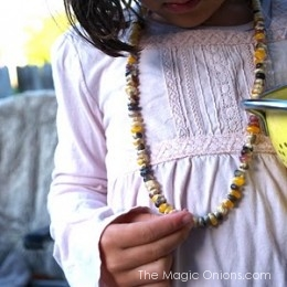 Make a Colorful Harvest Corn Necklace