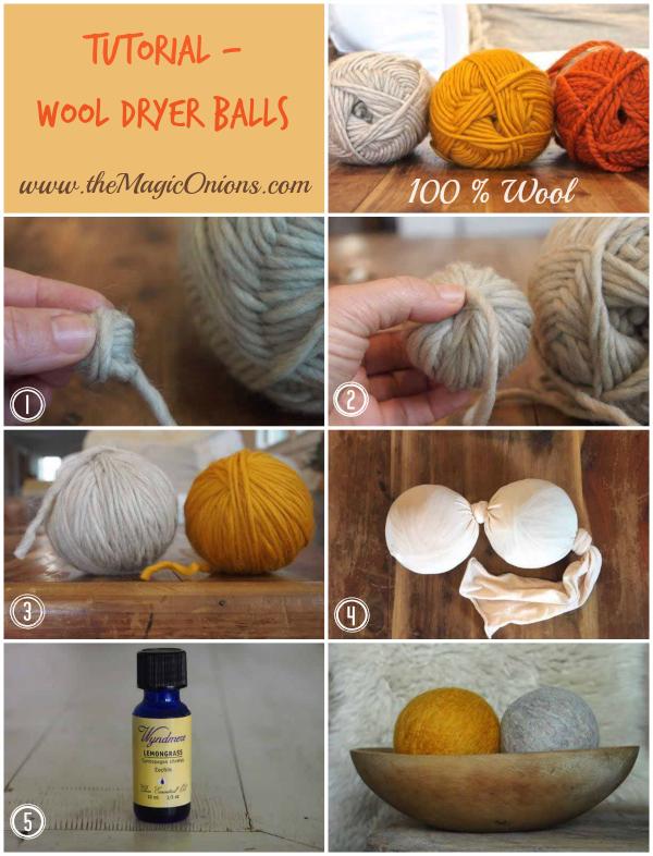 Wool Dryer Ball Tutorial : www.theMagicOnions.com